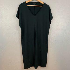 J Jill Wearever Collection Pleated Black Dress